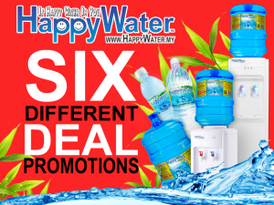 Happy Water Delivery Promotions for Home and Office