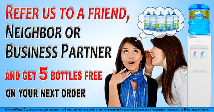 Get Free HappyWater with the Happy water Referral Program