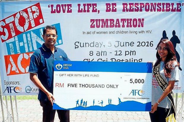 With support from the Asian Football Confederation CSR Department, MCrumcher, Vico and Happy Water, a total of RM12,000 was raised from the programme.