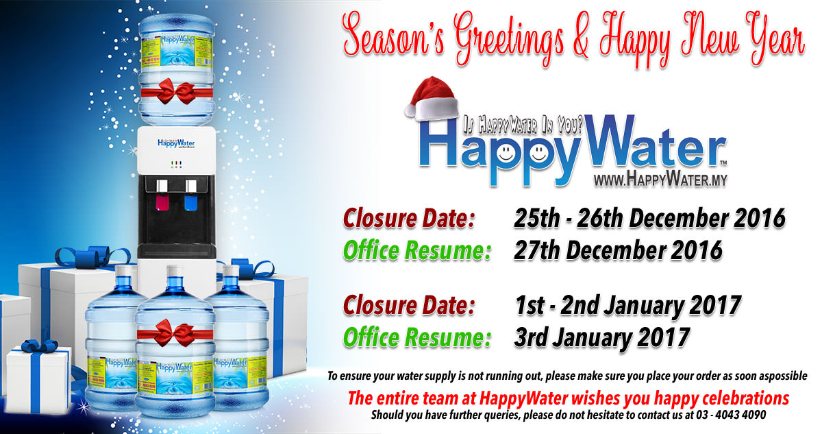 Happy Holidays from HappyWater