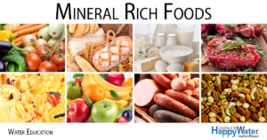 We humans get the vast majority of our minerals from the foods we eat, not from drinking water