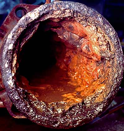 Old pipes can become lined with minerals, pesticides and other pollution.