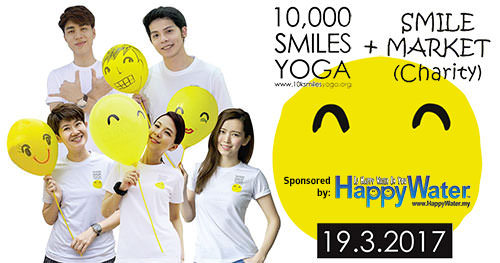 Happiness is a choice, Choose Happy water and do Smiles Yoga
