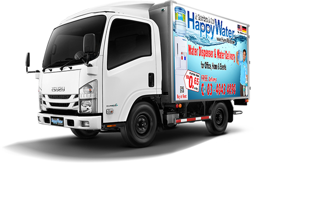 Fast and Reliable delivery, experience HappyWater