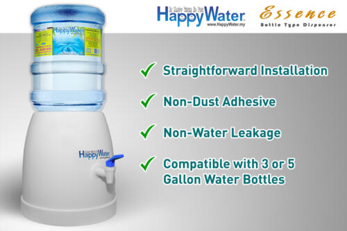 User-friendly and convenient mini water dispenser made for each and every one. The portable mini dispenser makes it so easy to carry anywhere and everywhere because of it's lightweight. With the mini dispenser, your premium water is at your fingertips.