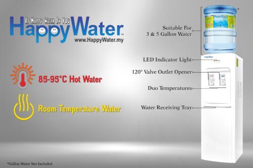 hot and warm bottle type dispenser