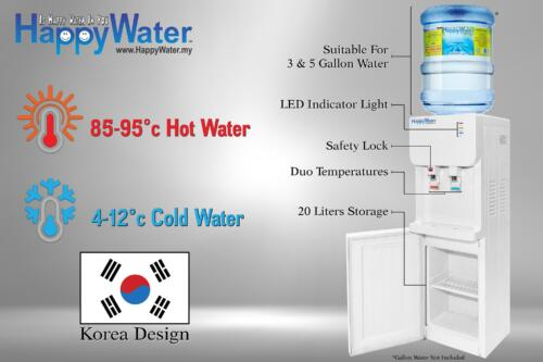 top load water dispenser with cabinet storage